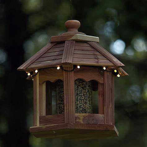 Cedar Bird Feeders Lighted Cedar Gazebo Bird Feeder The Green