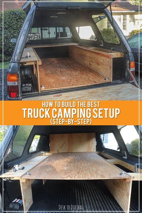 build  ultimate diy truck bed camper setup step