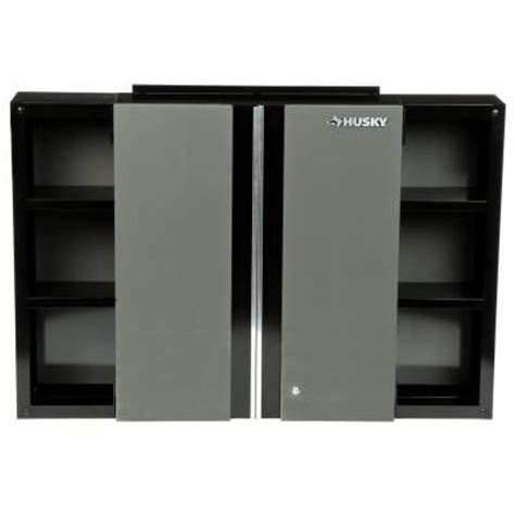 garage wall cabinets home depot husky 48 in wall cabinet 48wc01bp thd the home depot