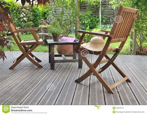 Tables Et Chaises by Relaxing In Terrace Stock Photo Image 40610113