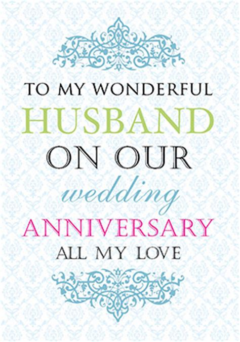 Silver Wedding Anniversary Card Husband by Anniversary Cards For Husband Funky Pigeon