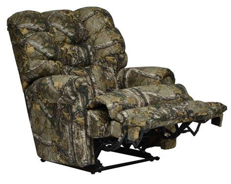 mossy oak camo recliner duck dynasty big falls lay flat recliner in mossy oak