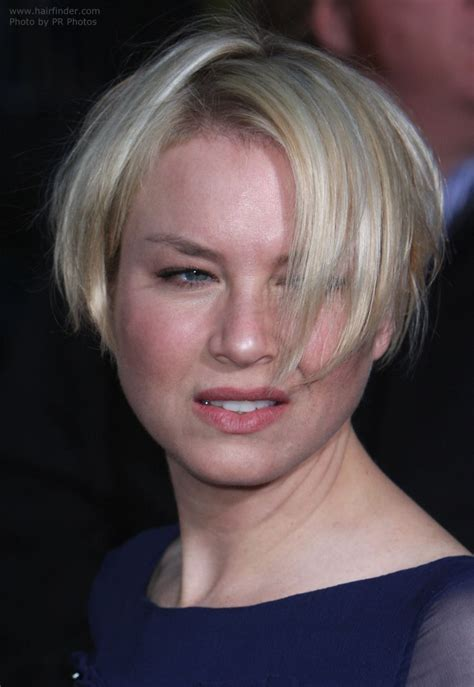 hairstyles for average women renee zellweger bob plain and comfortable short