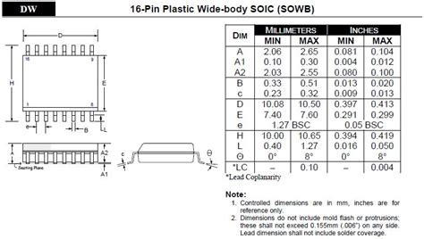 soic 8 footprint dimensions soic package drawing
