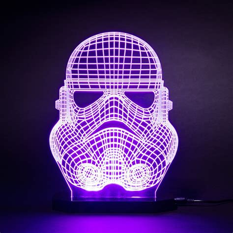 Refined Star Wars Stormtrooper Face Mask LED Desk Light Glowing With Me