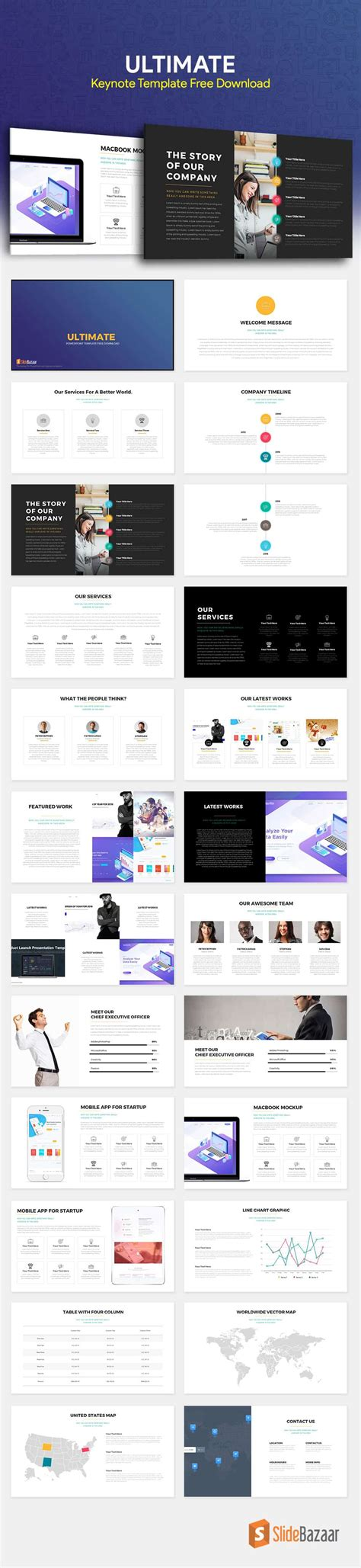 layout keynote free ultimate keynote template free download slidebazaar