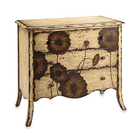 accent tables and chests buy poppy 3 drawer accent chest from bed bath beyond