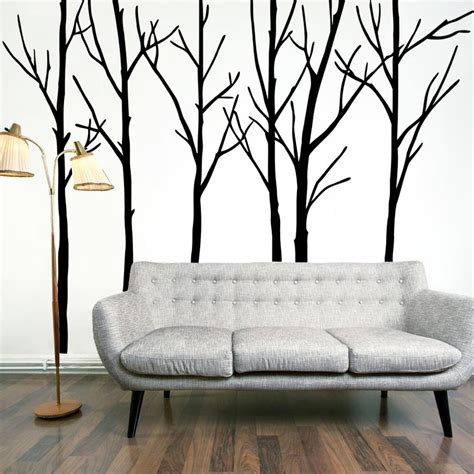 Wall Sticker Art Tree extra large black tree branches wall art mural decor