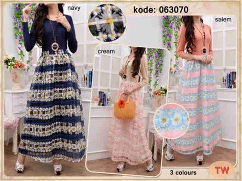 Surti 3 Jumbo Maxy Supplier Baju Murah jual gamis maxi kaca import 063070 r877 bahan atasan katun rayon bawahan kain kaca motif