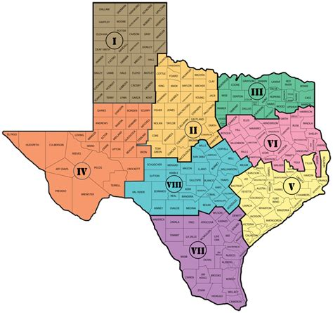 texas school regions map texas high school athletic directors association regional map