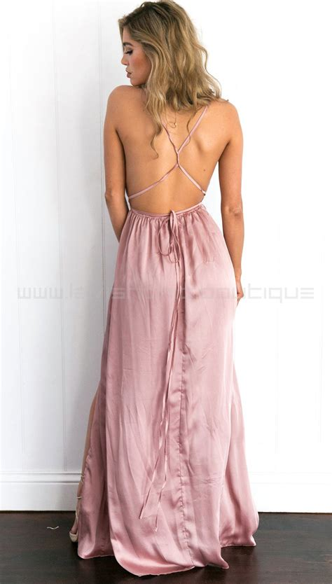 Maxi Manila L Dusty Pink catwalk maxi dress dusty pink