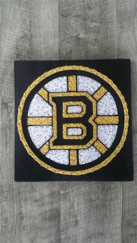 boston bruins home decor boston bruins string art hockey decor bruins fan boston