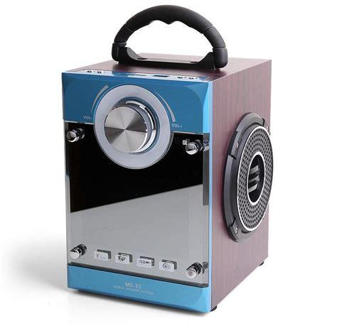 Podxtreme Mini Sound Box by Portable Speaker Mini Soundbox Subwoofer Speakers Wooden