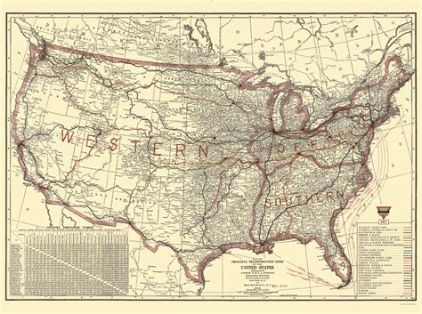 united states rail map railroad maps united states transportation lines by