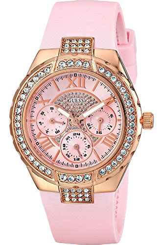 Guess W0041g2 Rosegold Combi review guess w0300l3 pink and gold tone sparkling hi energy best