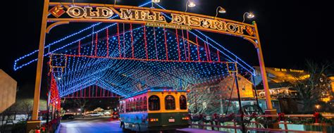 lights in pigeon forge smoky mountain winterfest celebration in pigeon forge