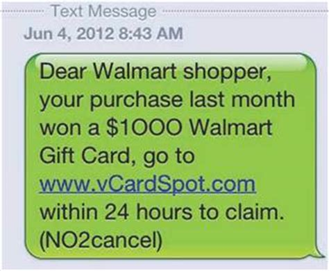 1000 Dollar Walmart Gift Card Text - ftc busts text spammers for conning people in gift card scams today com