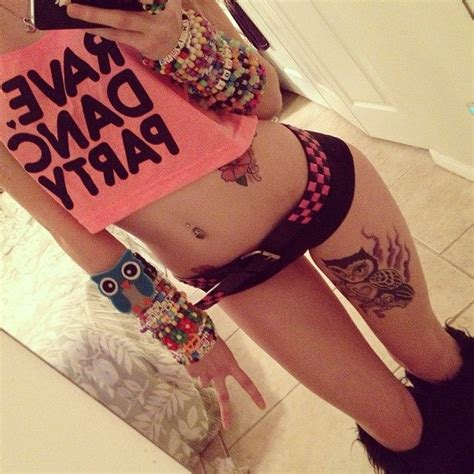 love her owl kandi and tattoo pretty rave