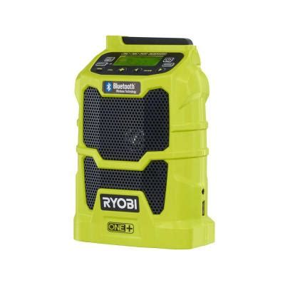 ryobi one 18 volt compact radio with bluetooth wireless