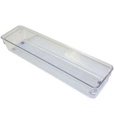 narrow clear plastic drawer organizer large in drawer bins