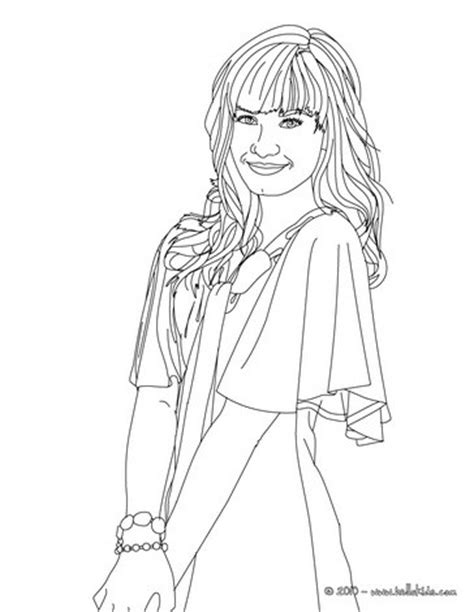demi lovato smiling coloring pages hellokids com