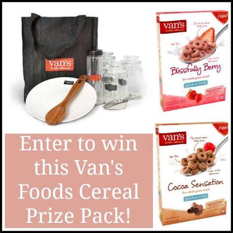 Van Giveaway - van s foods cereal prize pack giveaway winvansfoods