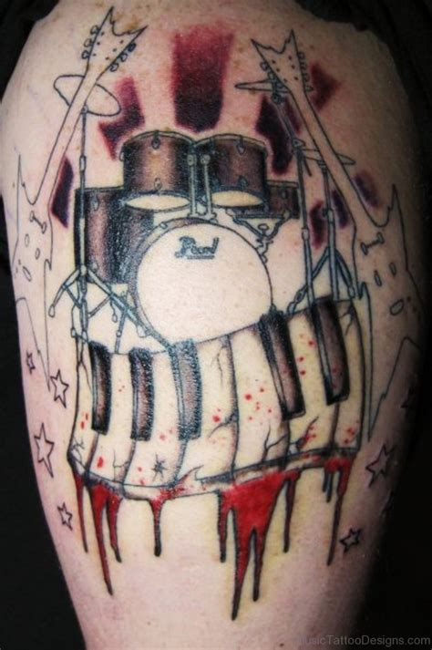 rose tattoo drummer 50 drum tattoos