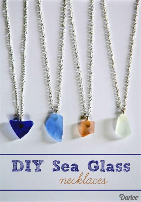 make sea glass jewelry diy sea glass necklace tutorial darice