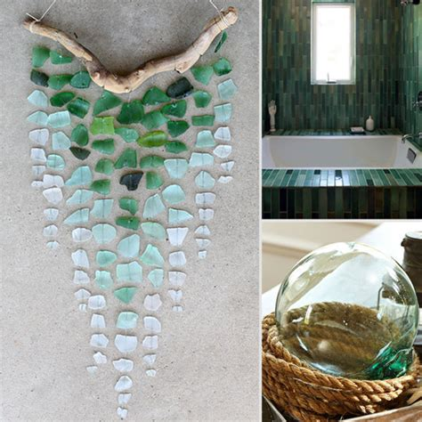 sea decorations for home sea glass decor shopping popsugar home