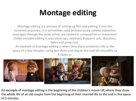 comedy film editing techniques continuity editing presentation
