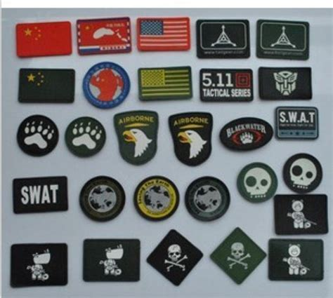 Rubber Pvc Patch Emblem 3d Pelopor 10pcs lot the most number of designs 3d pvc patch armband velcro backside pvc rubber