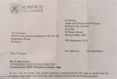 up letter alcoholic norwich city council write to toilet to ask if shop