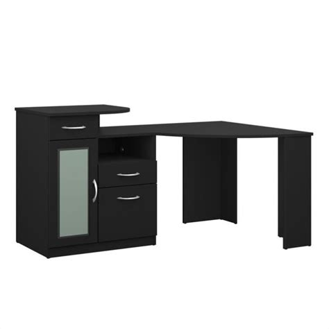 home office corner computer desk bush vantage corner home office computer desk in black