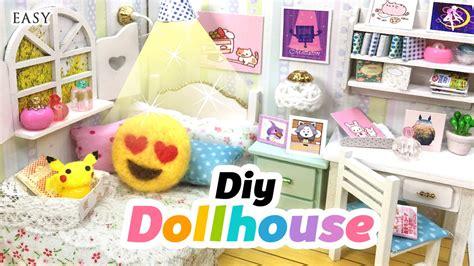 emoji room diy fandom dollhouse cute miniature room decor with