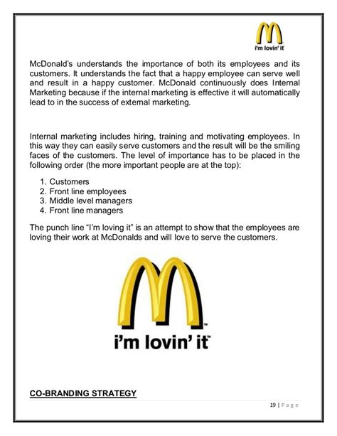 mcdonalds marketing strategies