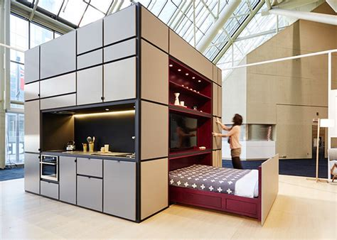 One Bedroom House Plans by Cubitat Sleek Plug And Play Unit Shelters A Kitchen
