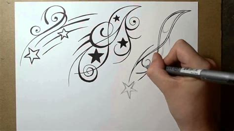 shooting star tattoo design ideas sketch sheet 2 youtube