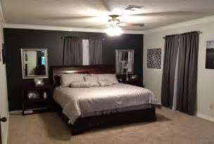 Accent wall dark accent walls grey bedrooms black accent walls