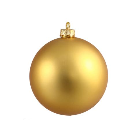 gold ball ornaments 4 quot matte set of 6