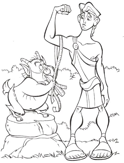 hercules coloring pages disney coloring home