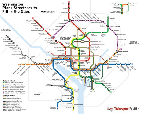 washington dc subway map washington comes closer to bridging the gap with its new streetcar network 171 the transport politic