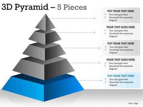 best photos of pyramid template for a presentation 3d