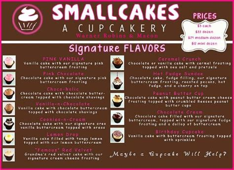 United Airlines Fees by Menu 12 Daily Flavors Picture Of Smallcakes Warner