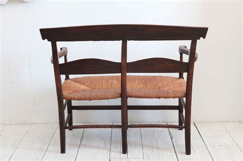 ladder back bench ladder back bench with rush seat at 1stdibs