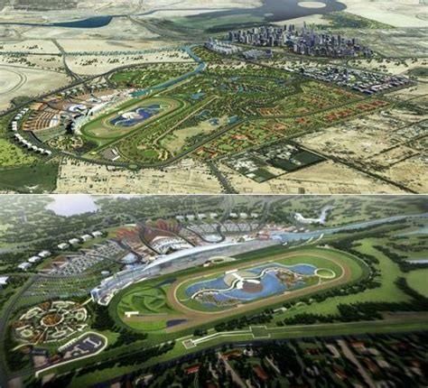 Race Track Dubai Meydan Dubai S Iconic Horseracing Venue Designbuzz