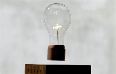 floating light bulb flyte hovering light uses magnetic levitation and wireless