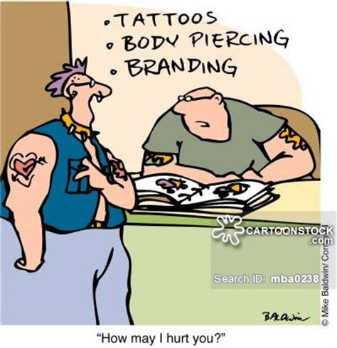 tattoo pain funny tattooists cartoons and comics funny pictures from