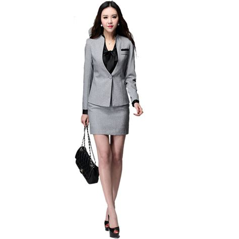 get cheap grey skirt suit aliexpress alibaba