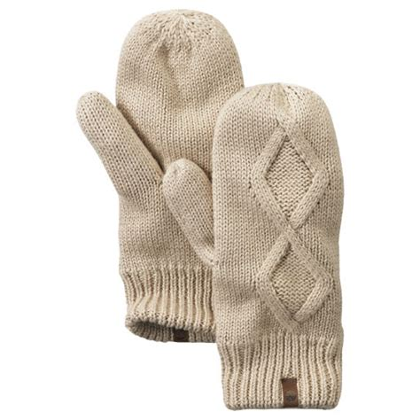 cable knit fleece lined timberland s fleece lined cable knit mittens