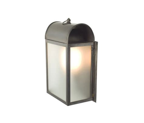 light in the box limited 7250 domed box wall light weathered brass frosted glass